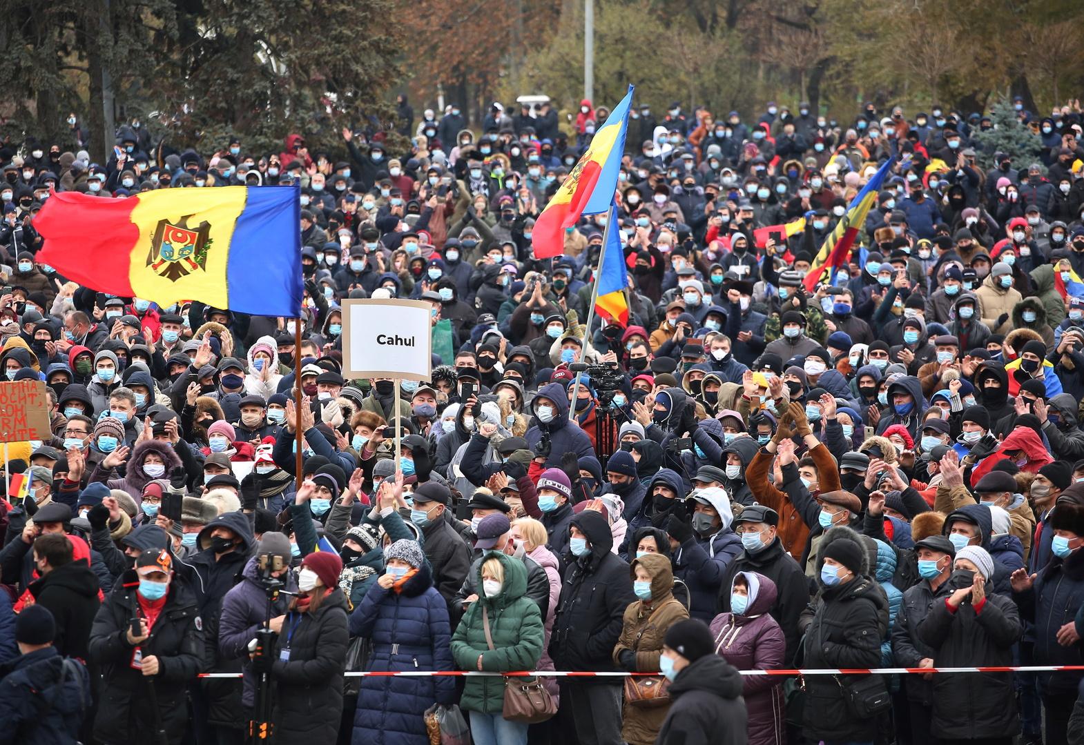 احتجاجات في مولدوفا تطالب باستقالة الحكومة وانتخابات برلمانية مبكرة