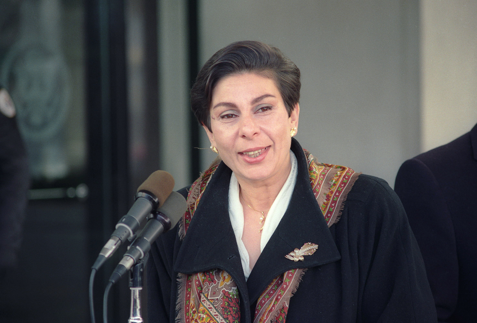 عضو اللجنة التنفيذية لمنظمة التحرير الفلسطينية المستقيلة حنان عشراوي