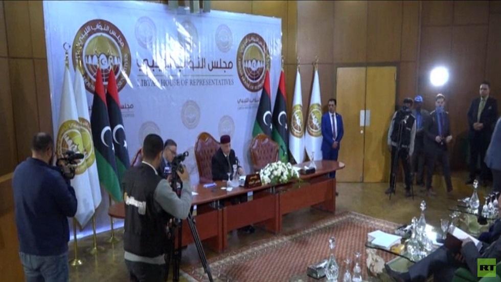 جلسة لمجلس النواب الليبي في بنغازي