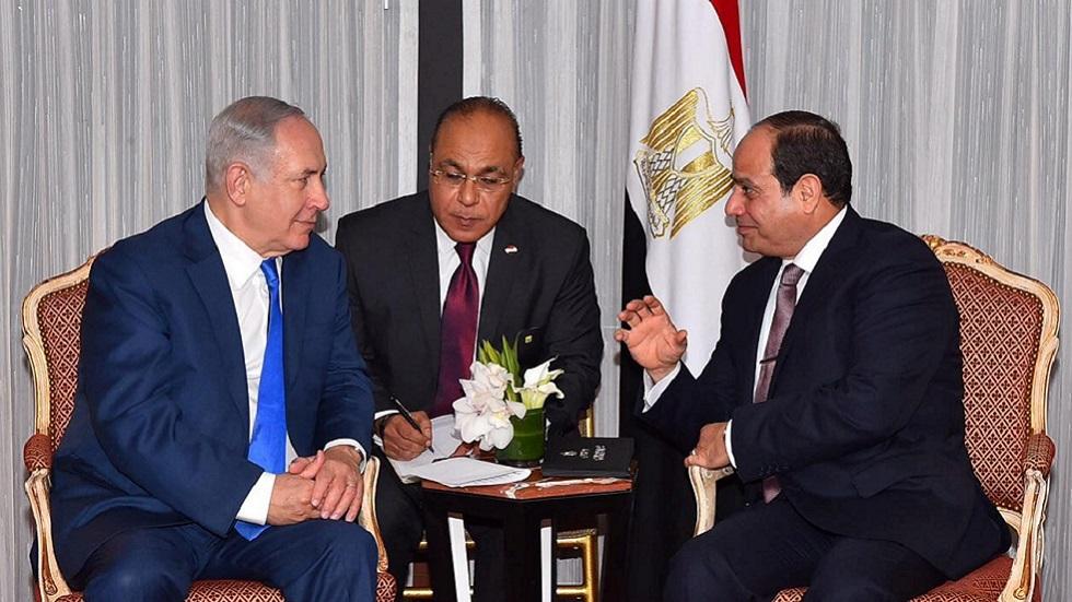 اجتماع بين رئيس الوزراء الإسرائيلي بنيامين نتنياهو والرئيس المصري عبد الفتاح السيسي في نيويورك على هامش فعاليات الجمعية العامة للامم المتحدة عام 2017
