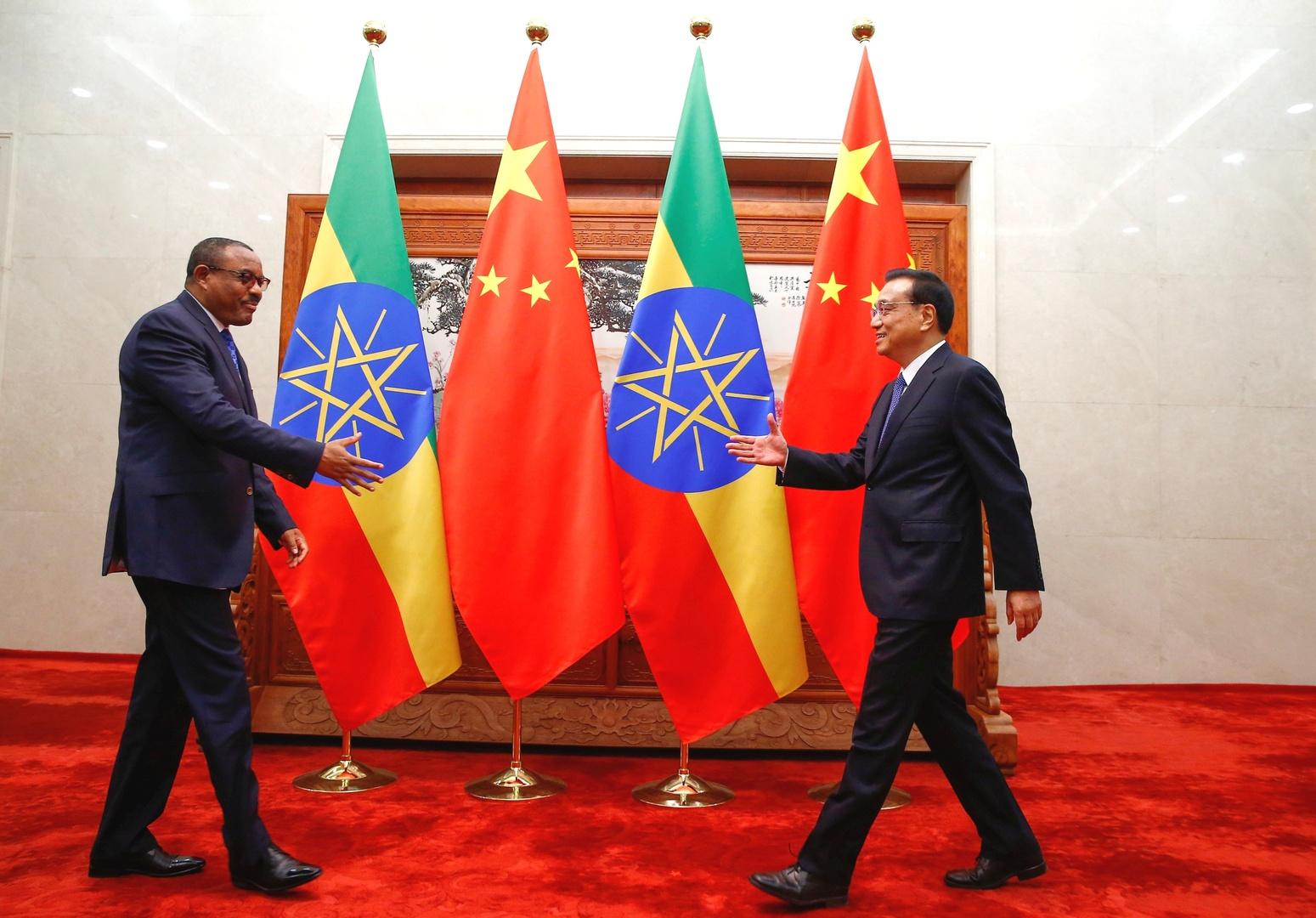 رئيسا الوزراء السابقان لإثيوبيا والصين في 2017.