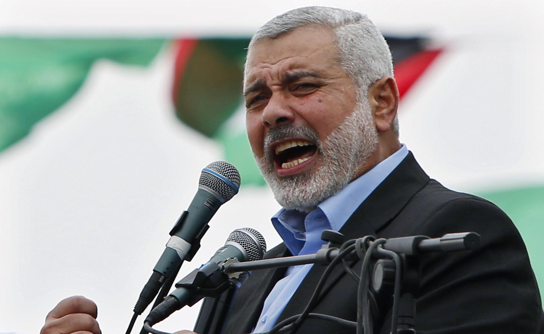 هنية: عودة السلطة الفلسطينية للتعاون مع إسرائيل عائق كبير أمام تحقيق المصالحة