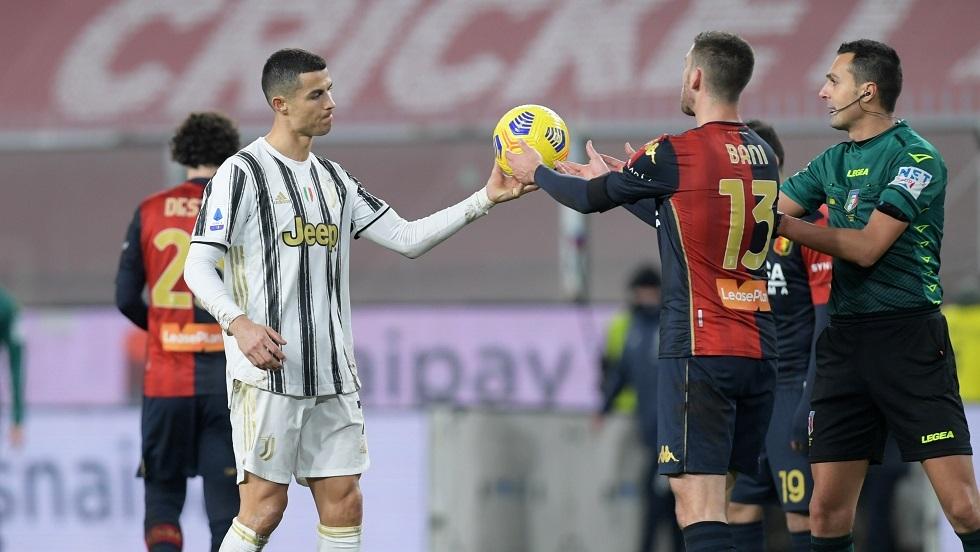 رونالدو يسجل ثنائية في مباراته المئوية بقميص
