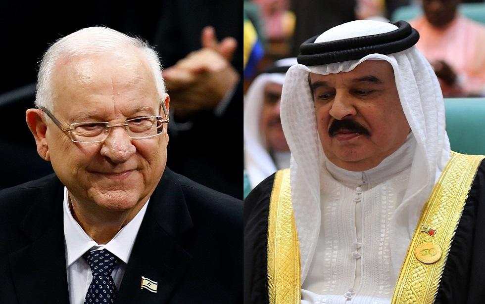 العاهل البحريني الملك حمد بن عيسى آل خليفة والرئيس الإسرائيلي ريوفين ريفلين