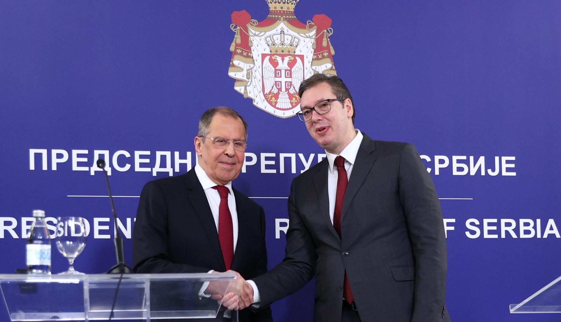 لافروف يدعو الاتحاد الأوروبي لأداء المهام المناطة به بشأن كوسوفو