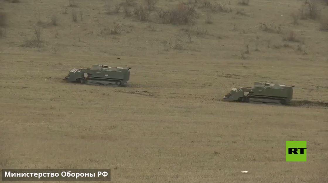 فيديو جديد يظهر عمل روبوتات أوران-6 الروسية في نزع الألغام في قره باغ