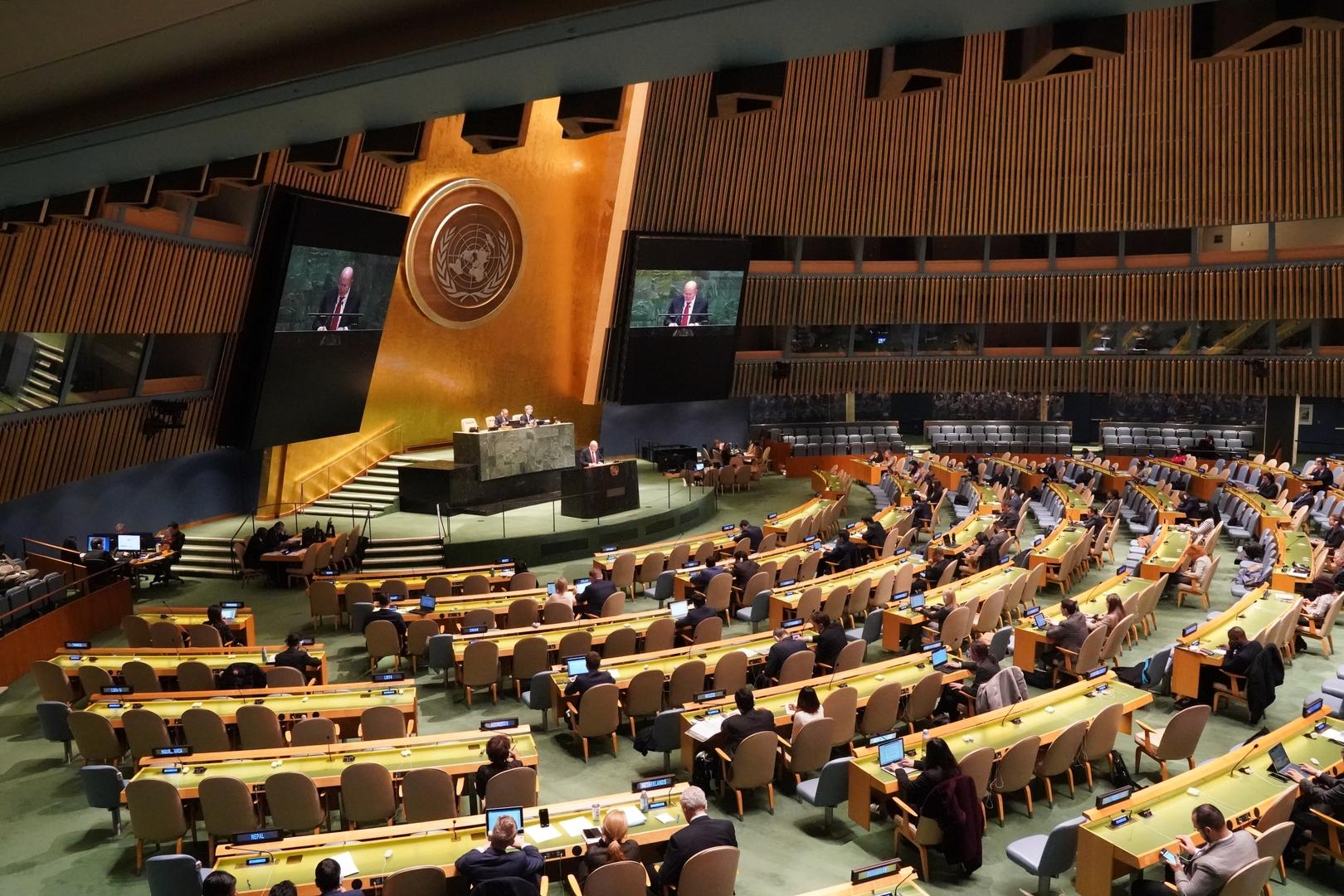 الجمعية العامة للأمم المتحدة تتبنى مشروع قرار روسيا ضد تمجيد النازية