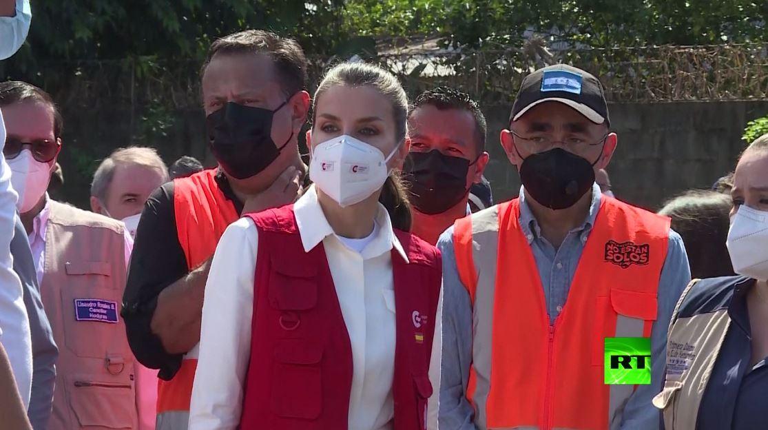 ملكة إسبانيا تزور هندوراس مع مهمة إنسانية