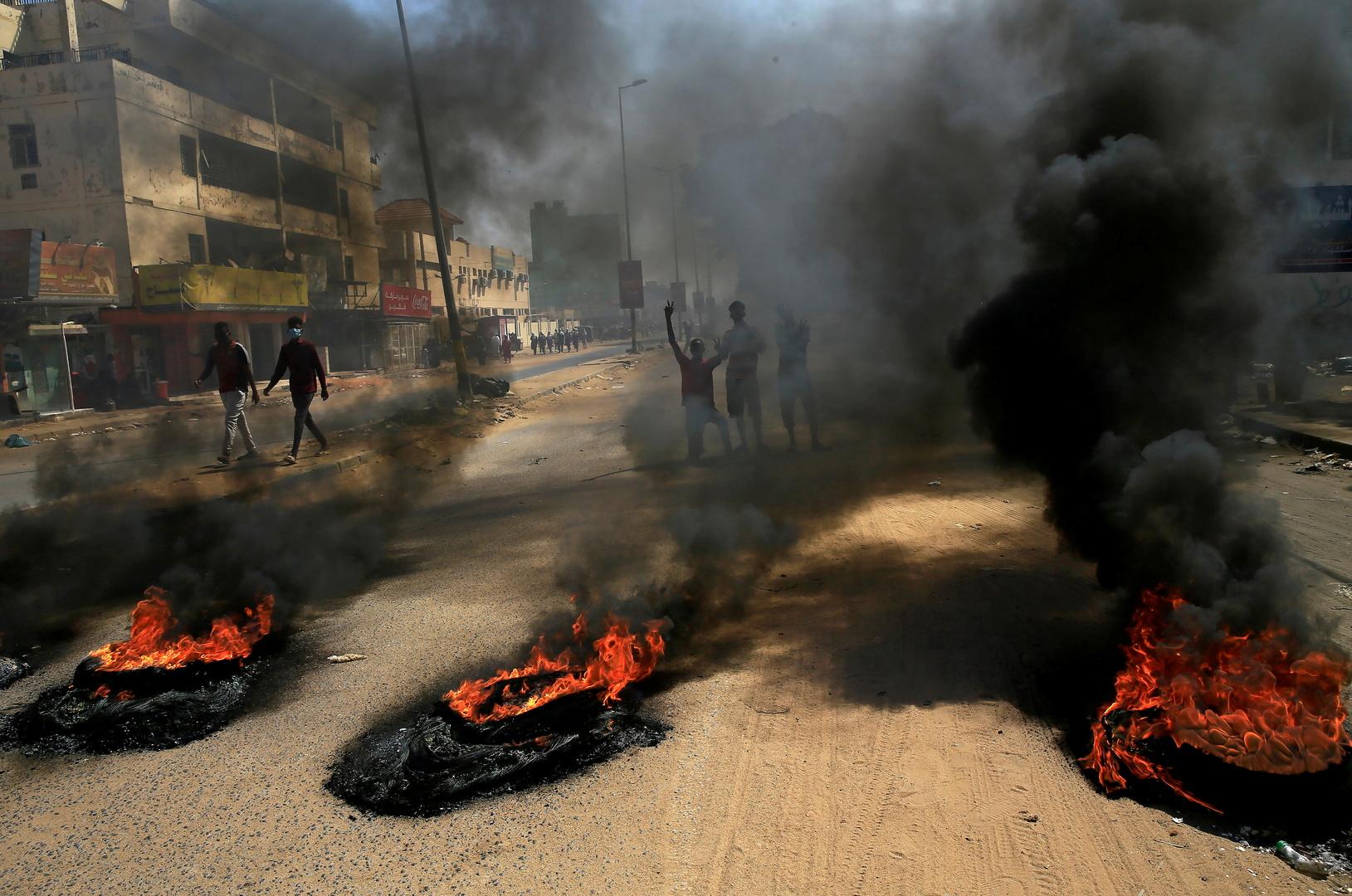 احتجاجات في الخرطوم في أكتوبر الماضي.