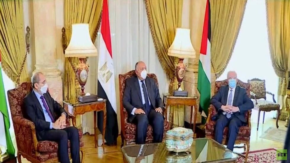 اجتماع ثلاثي مصري أردني فلسطيني في القاهرة