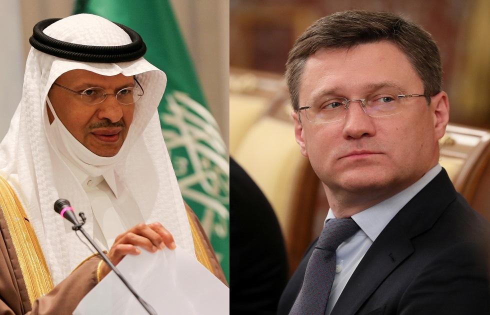 الأمير عبد العزيز بن سلمان وزير الطاقة السعودي، ونائب رئيس الوزراء الروسي ألكسندر نوفاك