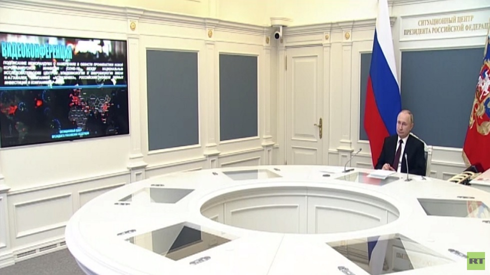 بوتين: التعاون الدولي ضروري لمواجهة الجائحة
