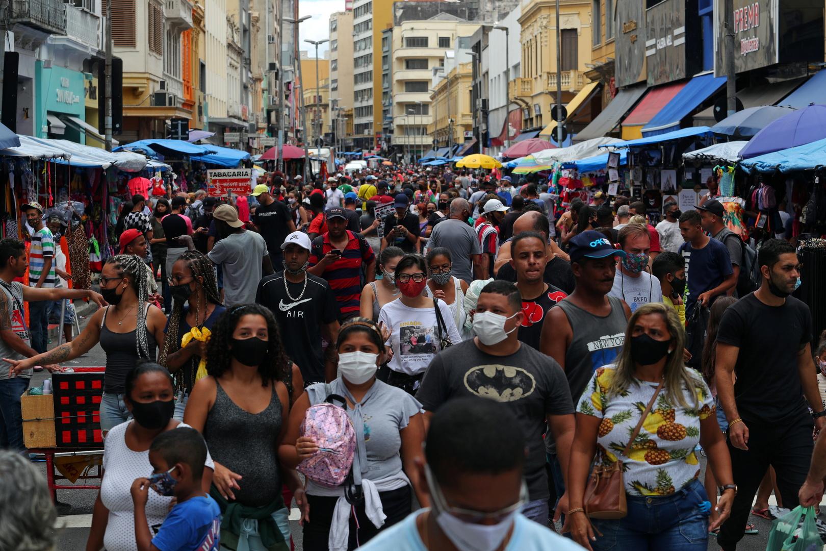 البرازيل..527 وفاة و25019 إصابة جديدة بكورونا