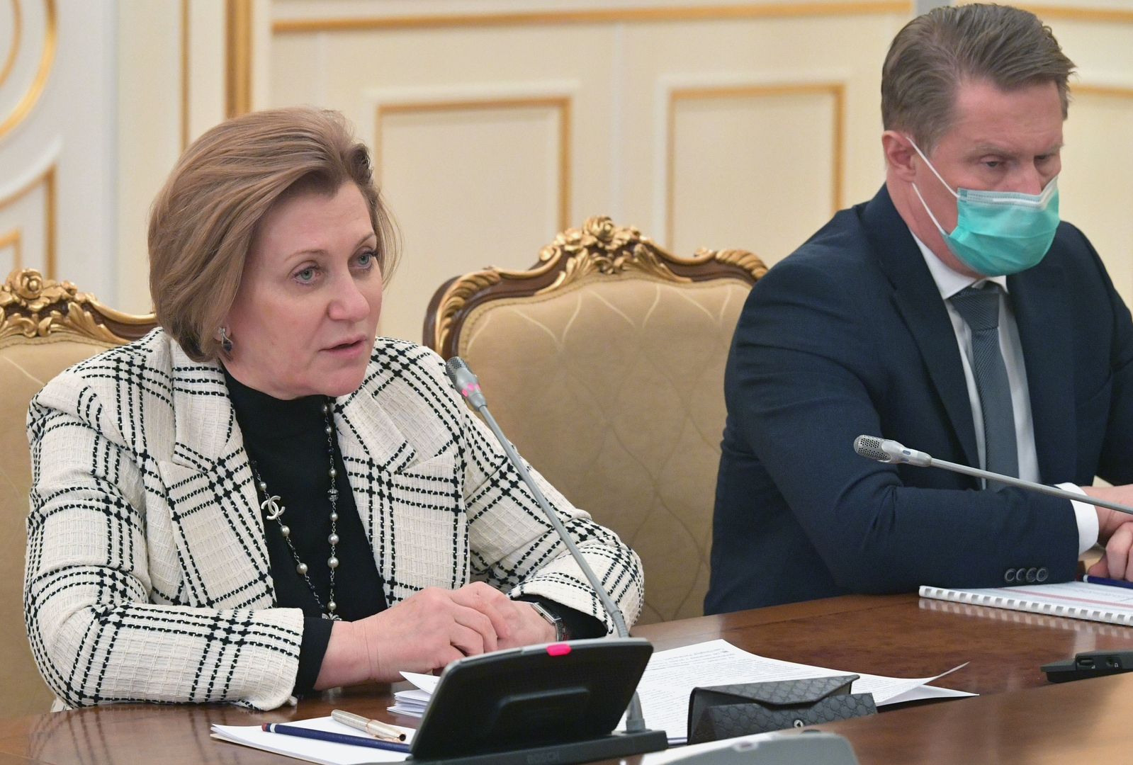 رئيسة الهيئة الفدرالية الروسية المعنية بالرقابة على حقوق المستهلك، آنا بوبوفا