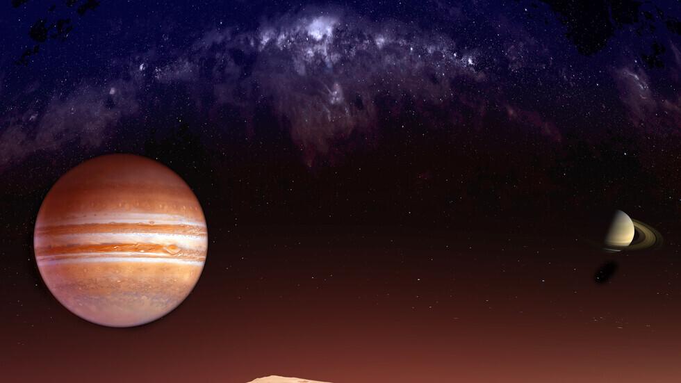 صورة تعبيرية لكوكبي زحل والمشتري