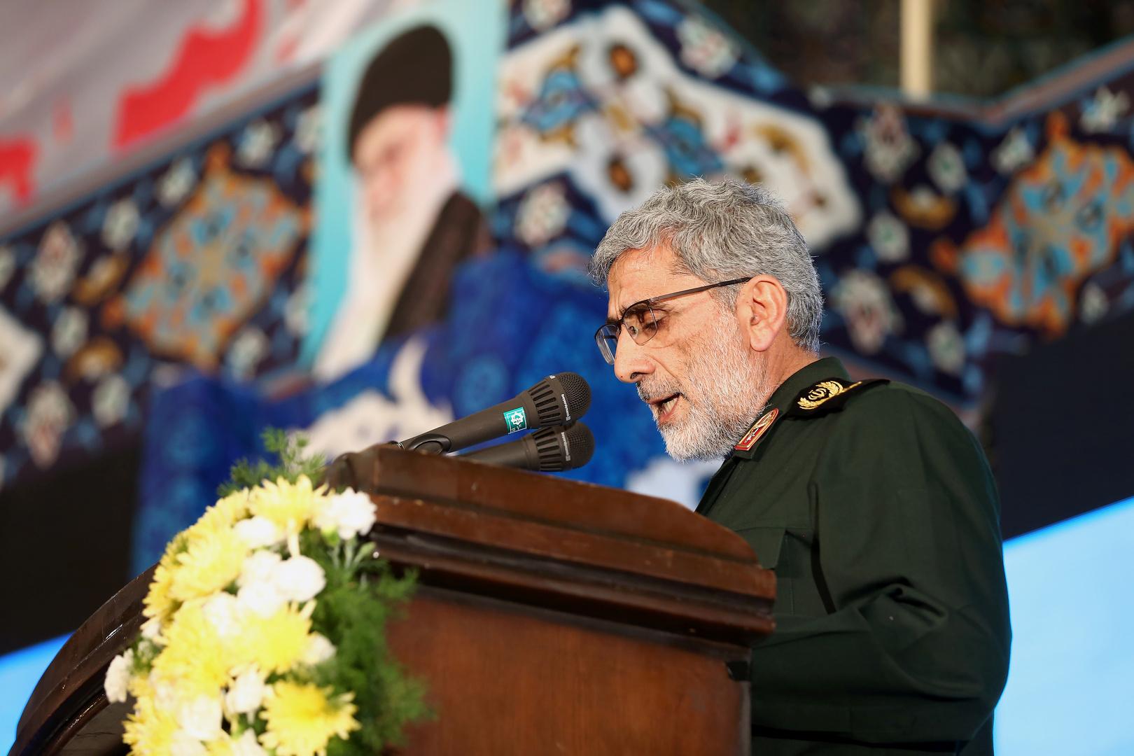 قائد فيلق القدس في الحرس الثوري الإيراني إسماعيل قآني