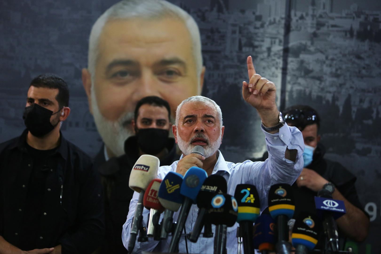 هنية: تطبيع العلاقات مع إسرائيل طعنة في ظهر شعبنا وأمتنا