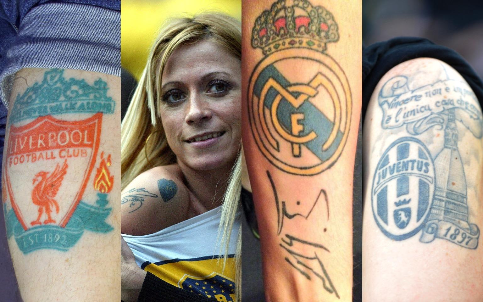 النادي الأكثر اختيارا لشعاره كوشم على أجساد المشجعين (صور)