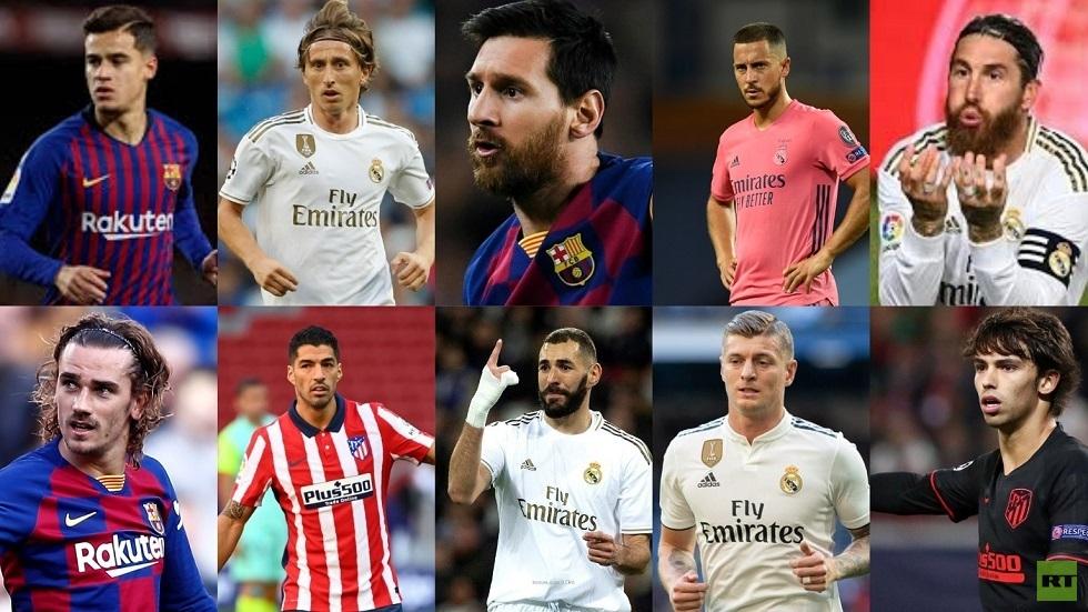 ترتيب لاعبي الدوري الإسباني في تصنيف الـ100 الأفضل بالعالم