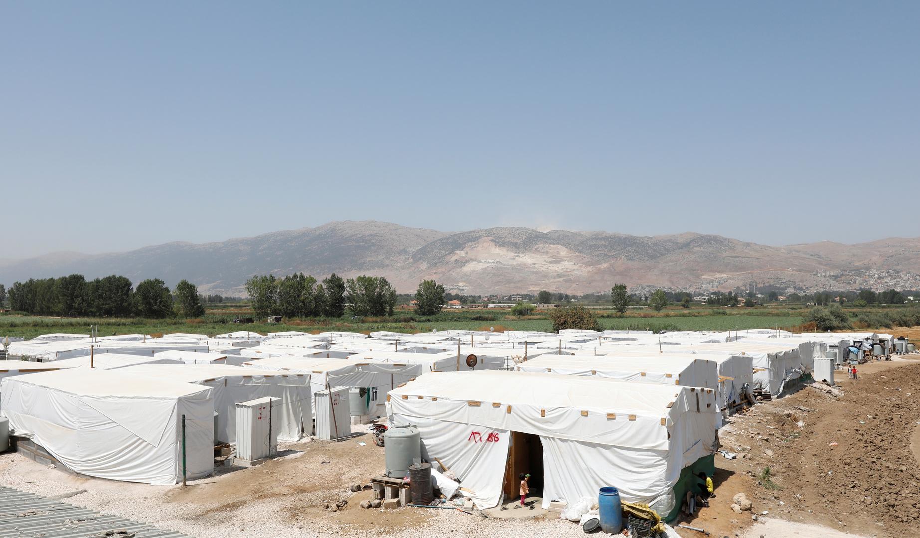 مخيمات للاجئين سوريين في لبنان