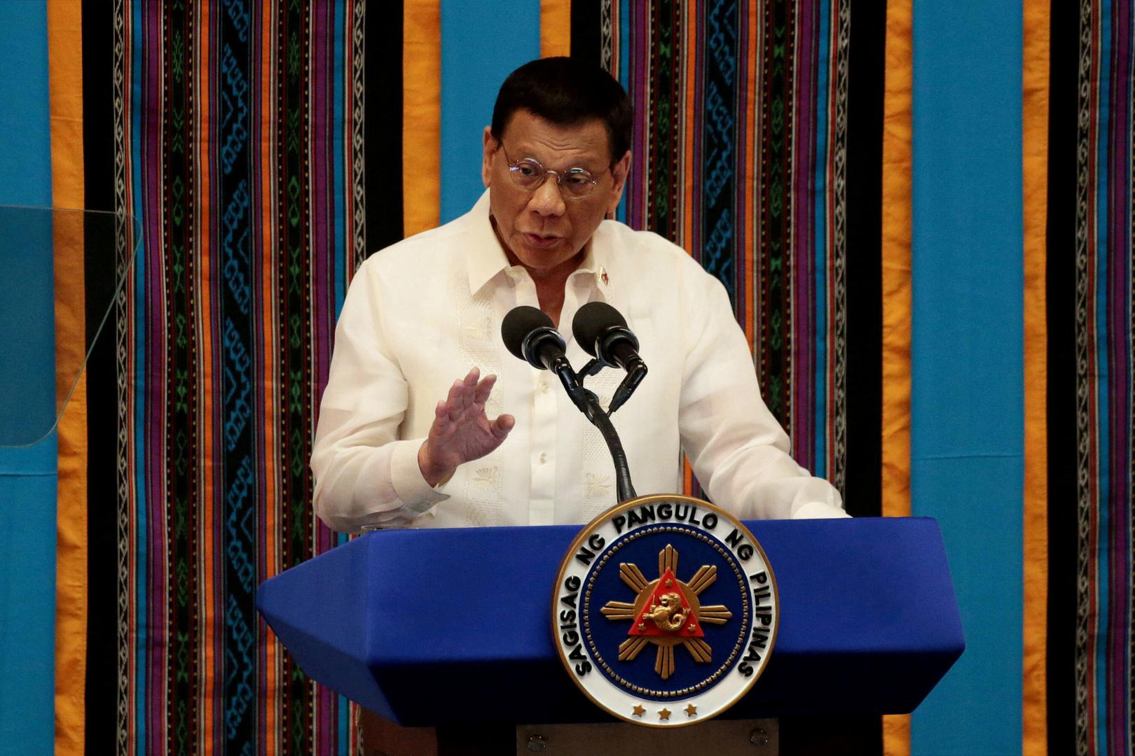 الرئيس الفلبيني لواشنطن: لا لقاح يعني لا بقاء لقواتكم هنا