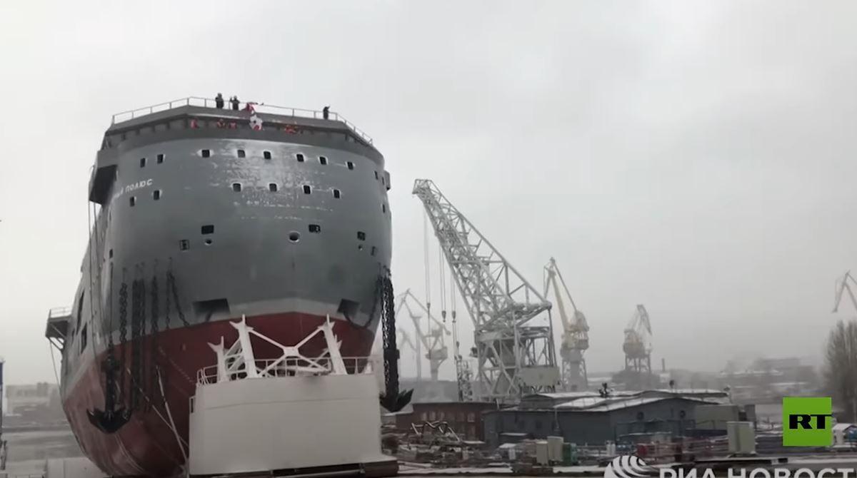 تدشين منصة كبيرة روسية بيضاوية الشكل لاستكشاف القطب الشمالي