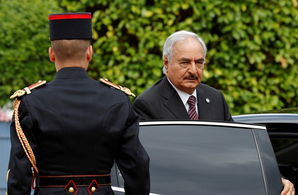 قائد الجيش الوطني الليبي المشير خليفة حفتر في فرنسا