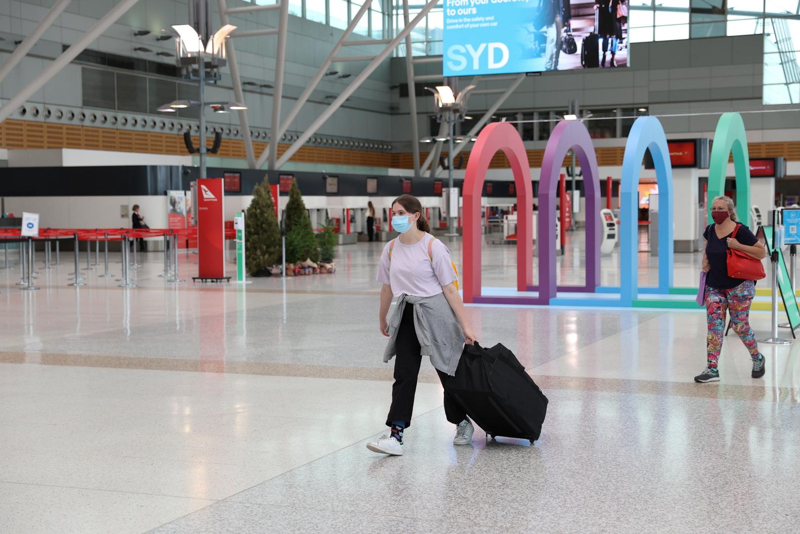 في مطار سيدني بأستراليا.