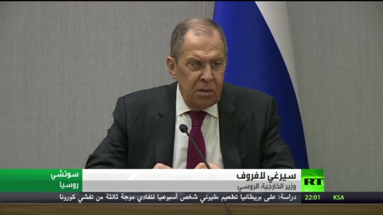 لافروف: سنواصل التعاون العسكري مع تركيا
