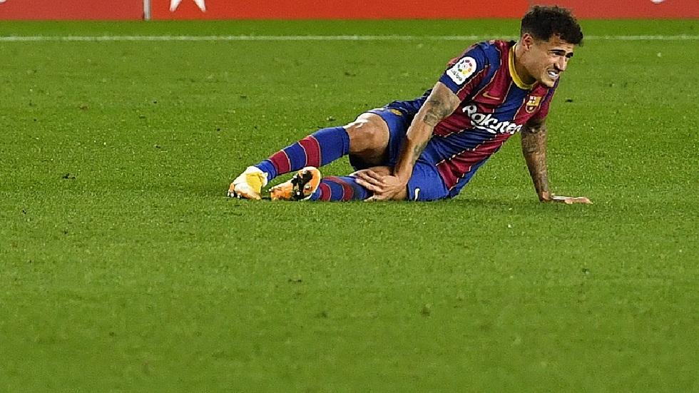 برشلونة يكشف طبيعة إصابة كوتينيو