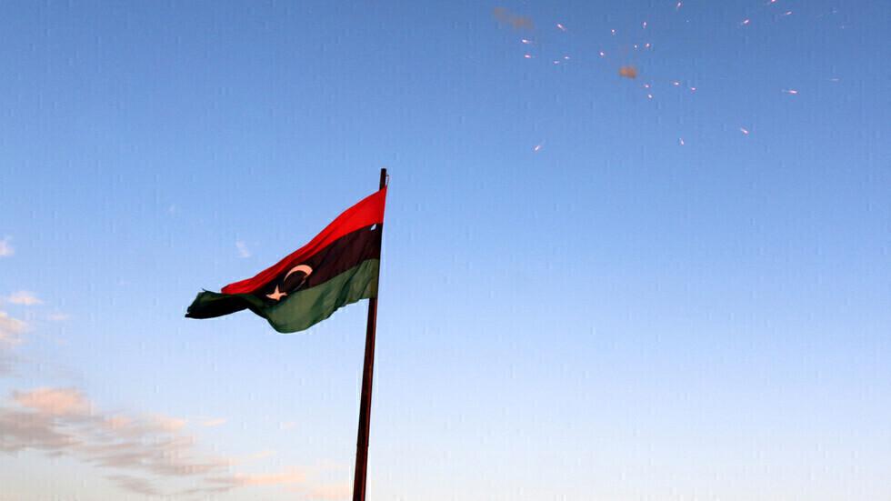 علم ليبيا.