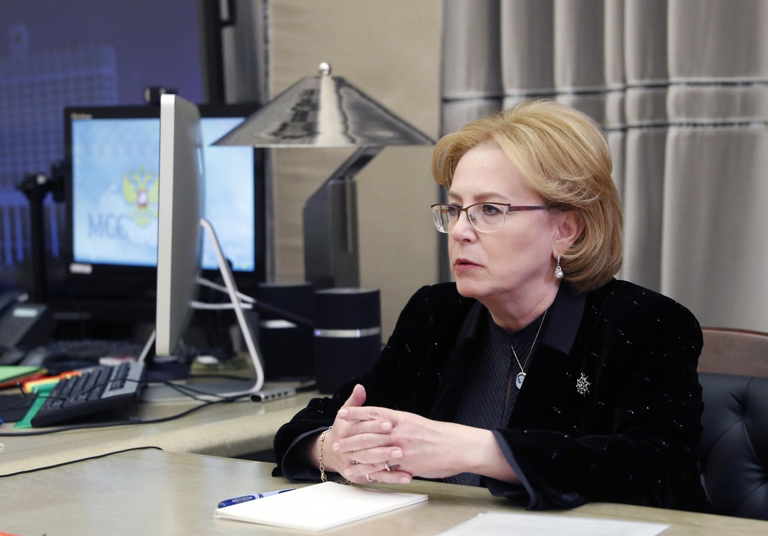 رئيسة الوكالة الفدرالية الروسية للأبحاث الطبية والبيولوجية، فيرونيكا سكفورتسوفا