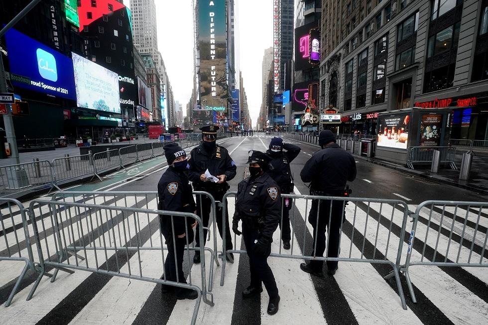 نيويورك تغلق ساحة تايمز سكوير أمام المحتفلين برأس السنة