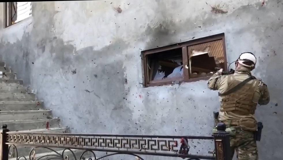 فيديو يظهر لحظة الهجوم المسلح على الشرطة في غروزني