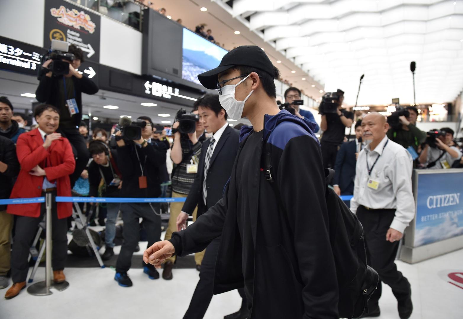 إصابة لاعب بكورونا تتسبب في انسحاب جميع اللاعبين اليابانيين من بطولتين