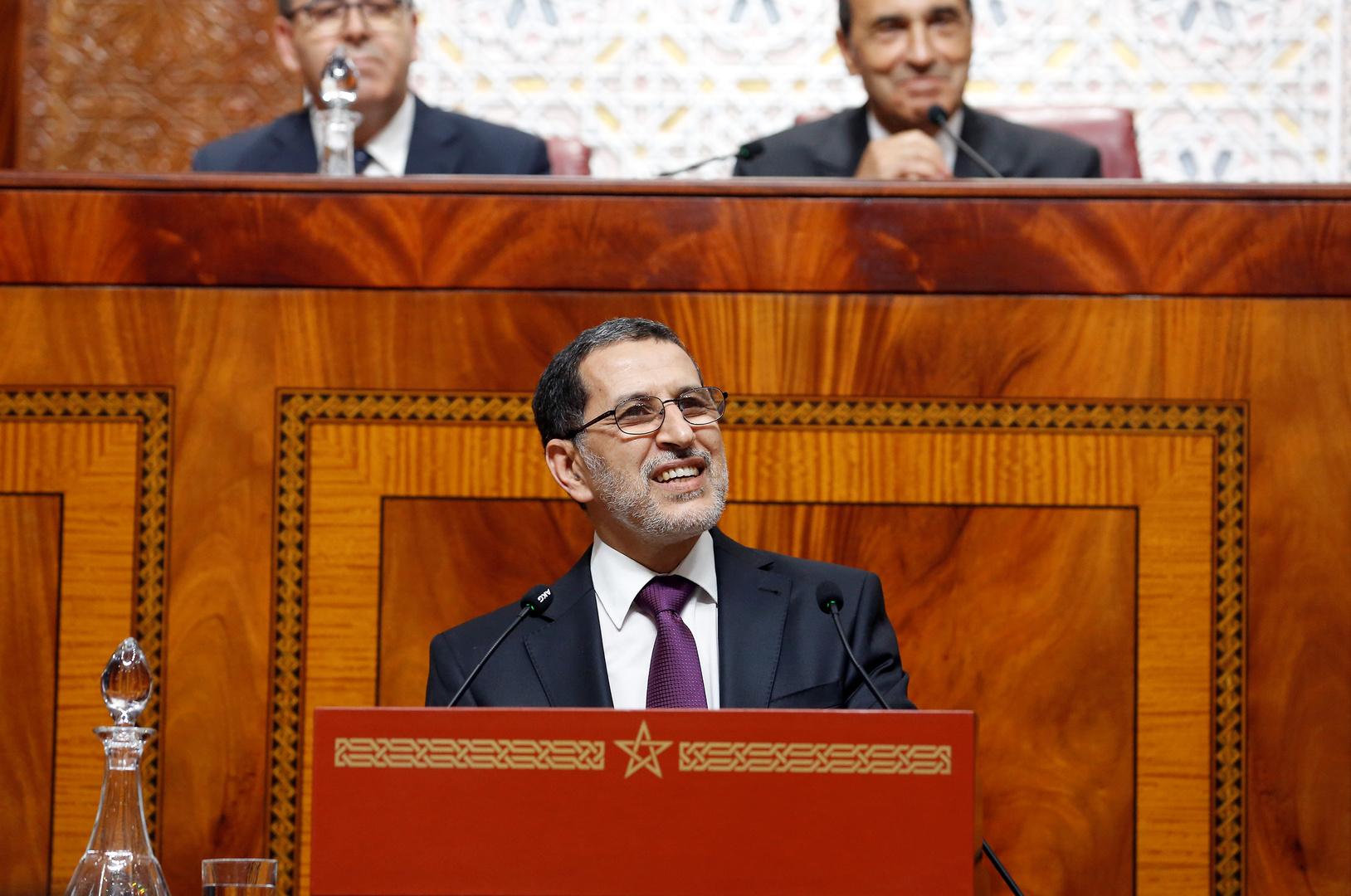 سعد الدين العثماني الأمين العام لحزب العدالة والتنمية المغربي ورئيس الحكومة المغربية.