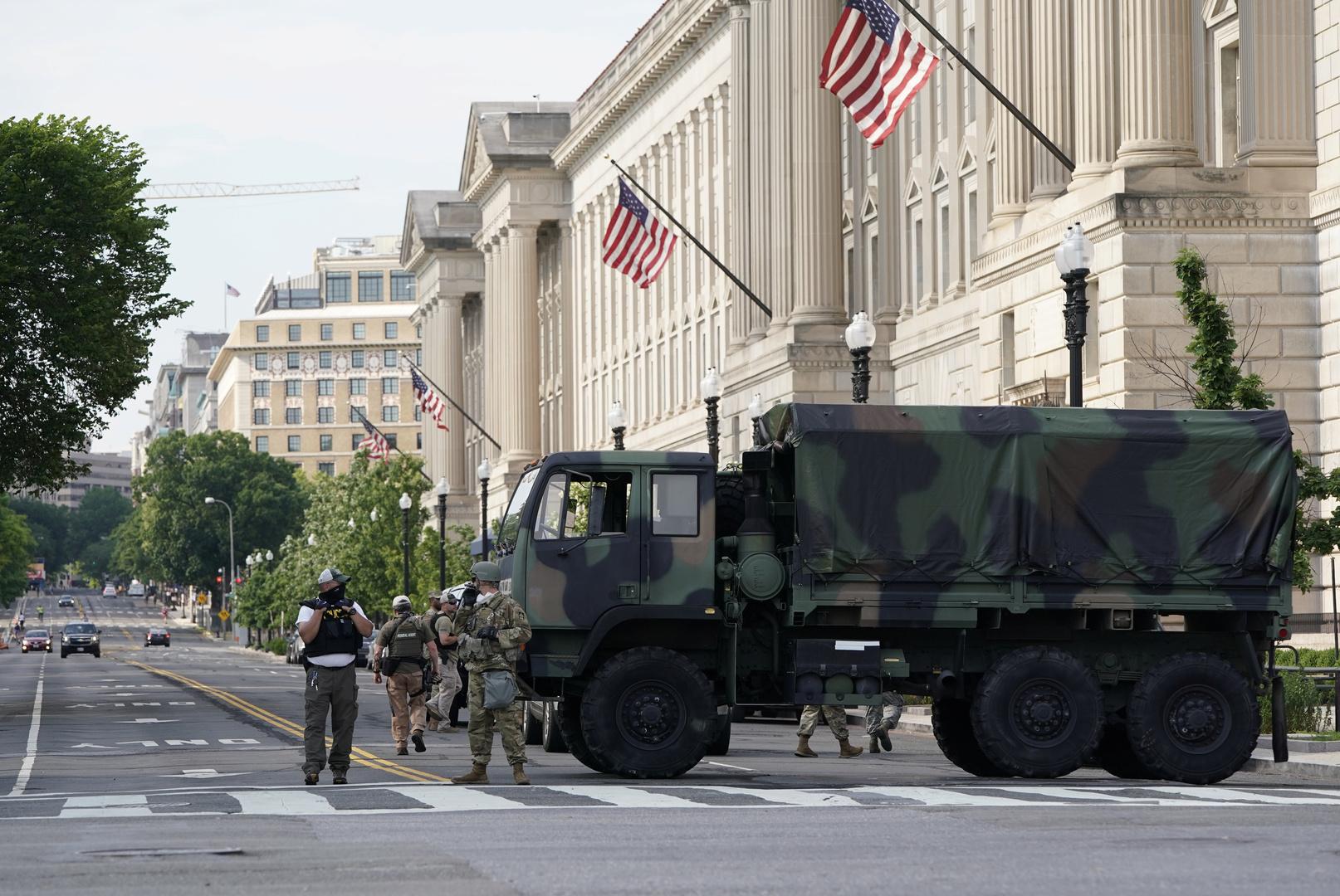 استنفار الحرس الوطني في واشنطن قبل مظاهرة مؤيدة لترامب
