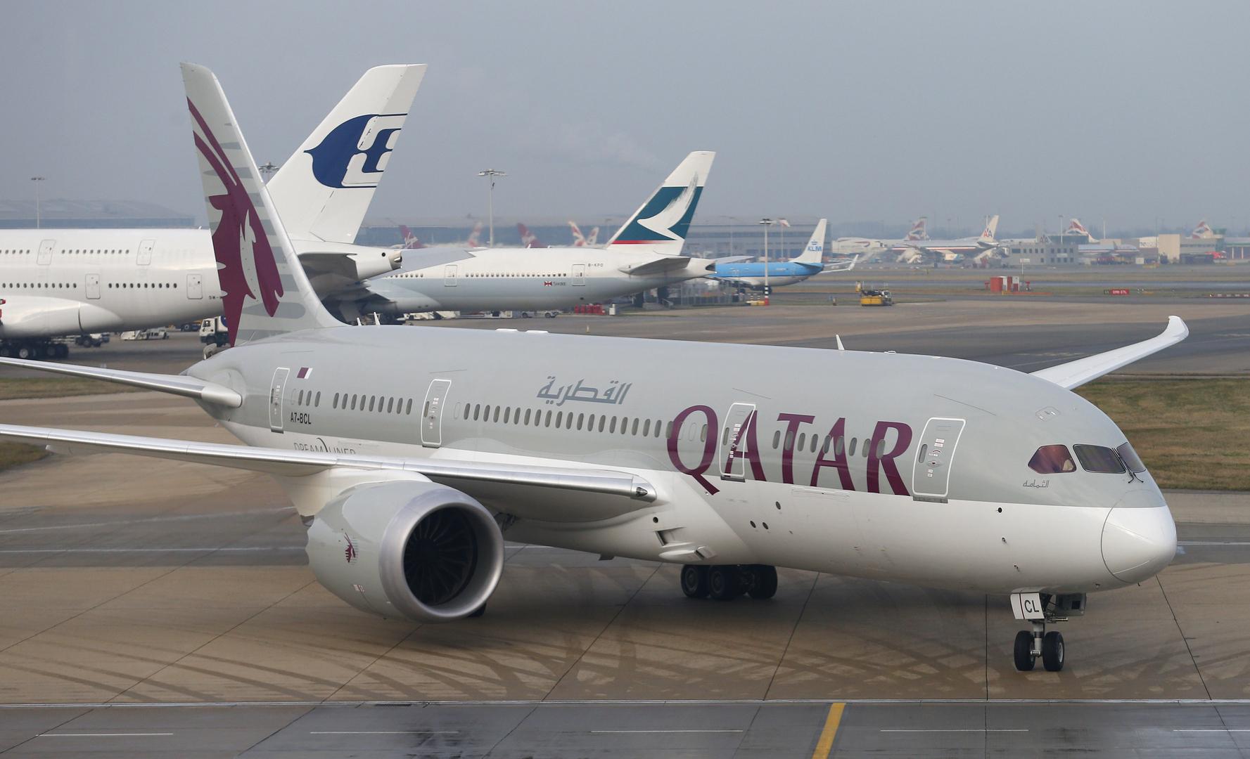 دخول أول طائرة قطرية الأجواء السعودية قادمة من الأردن