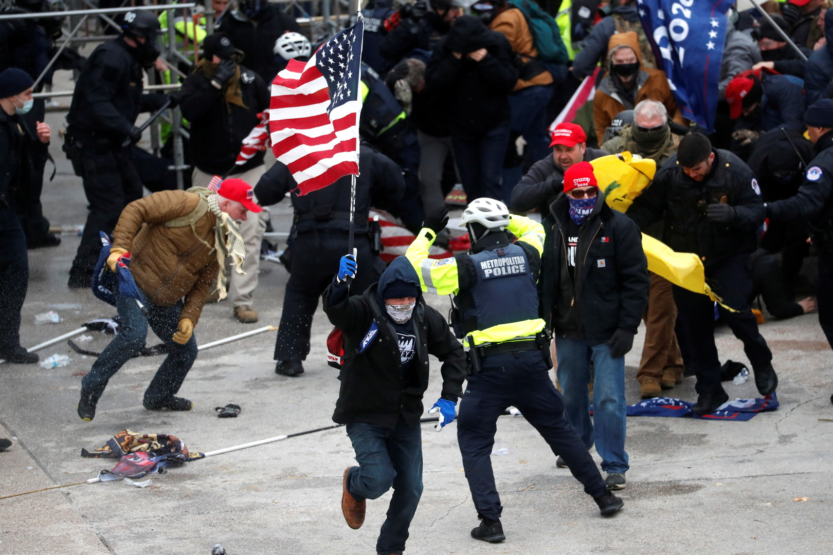 4 people were killed and 52 others arrested as a result of protests in Washington, DC