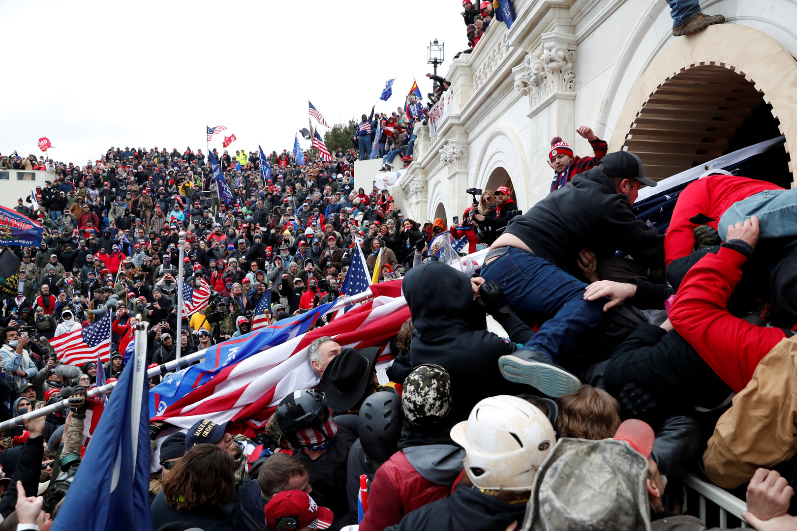 The storming of the US Congress ... More than 50 policemen were injured and 68 people arrested