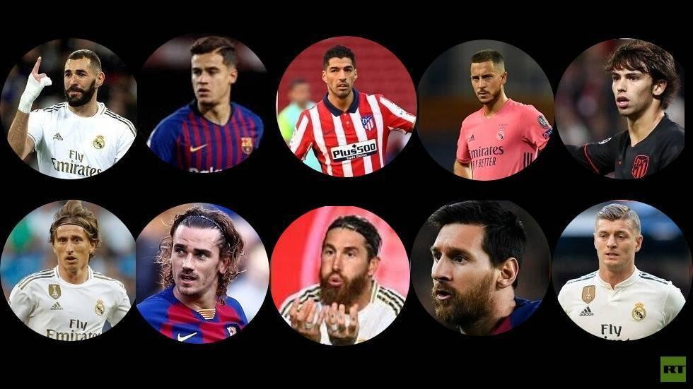 ترتيب ميسي ولاعبي الدوري الإسباني في قائمة