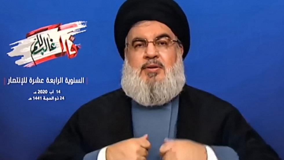 نصر الله يطالب الجيش اللبناني بكشف نتيجة التحقيق عن انفجار مرفأ بيروت