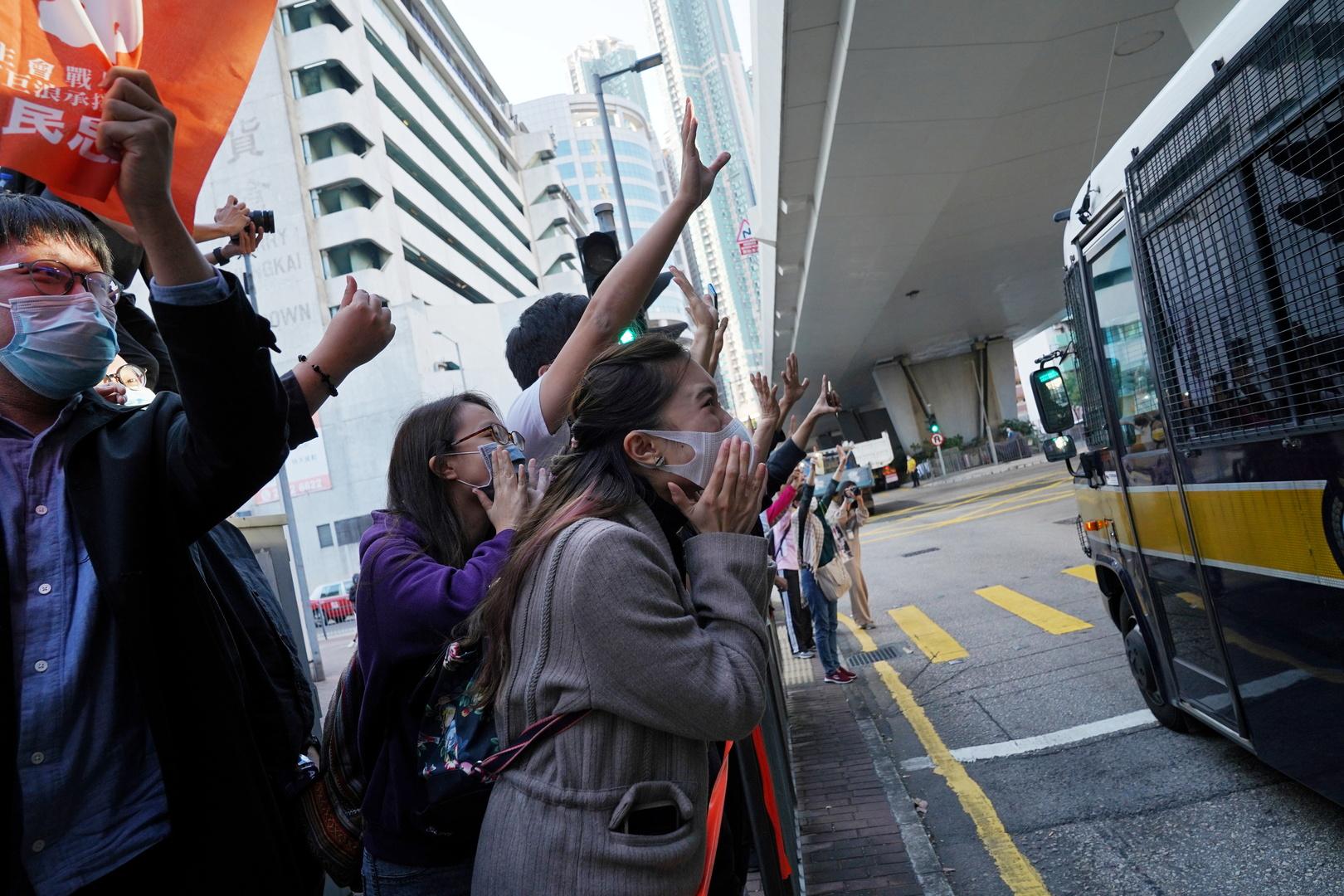 بيان غربي يستنكر اعتقال الصين لنشطاء في هونغ كونغ