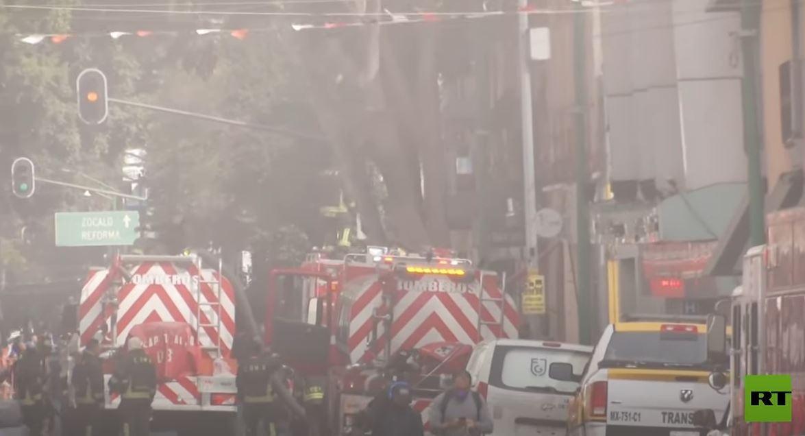 حريق في مترو أنفاق مكسيكو سيتي