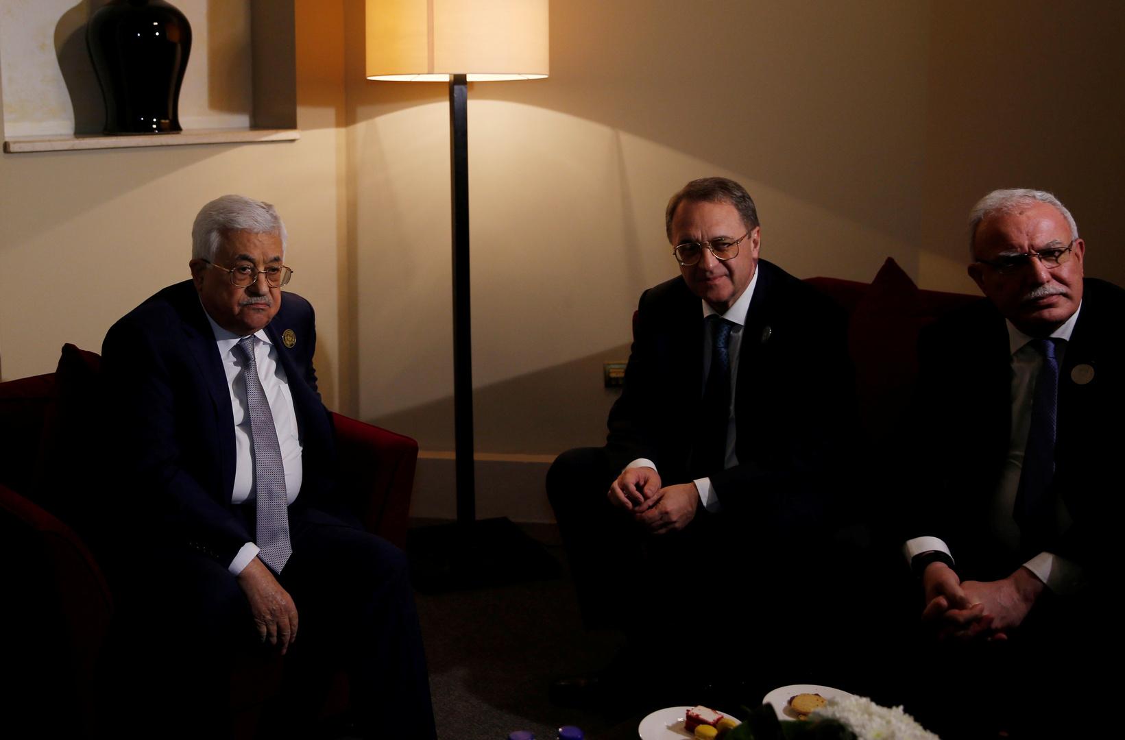 الرئيس الفلسطيني يعزي بوغدانوف في وفاة والدته