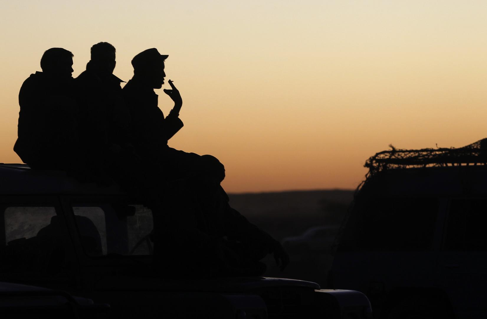 جنود تابعون لجبهة تحرير الساقية الحمراء ووادي الذهب (البوليساريو). الصورة: أرشيف.