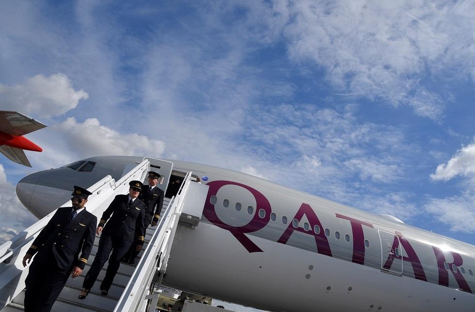 طائرة تابعة للخطوط الجوية القطرية