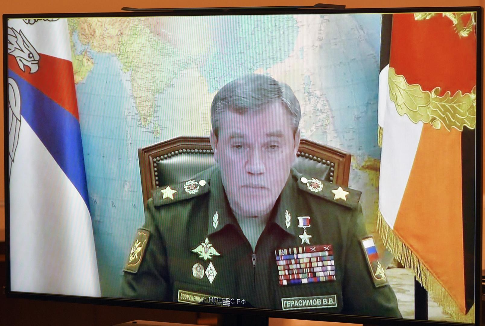 رئيس هيئة الأركان العامة الروسية، فاليري غيراسيموف