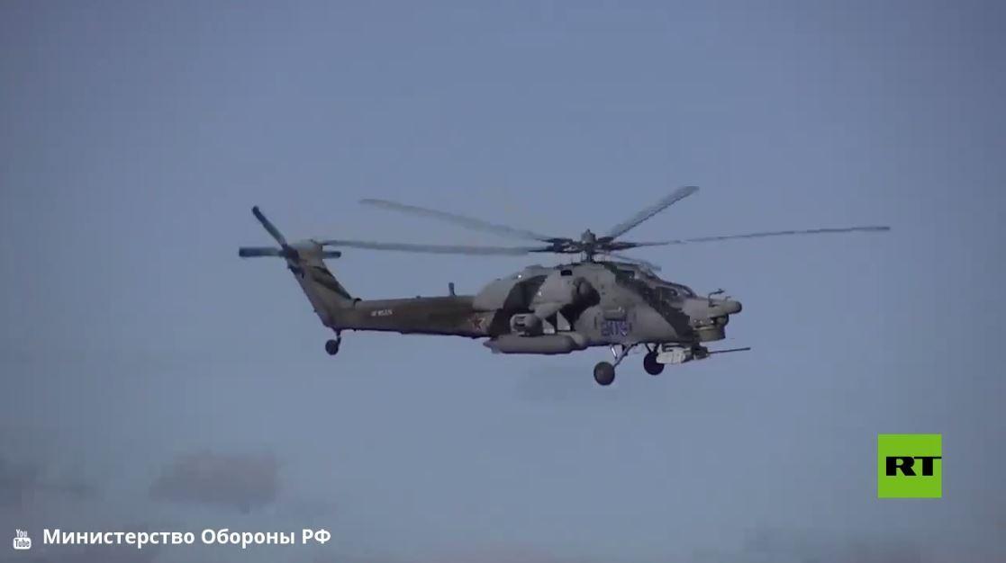 تدريب لمشاة البحرية الروسية على ساحل بحر قزوين في داغستان