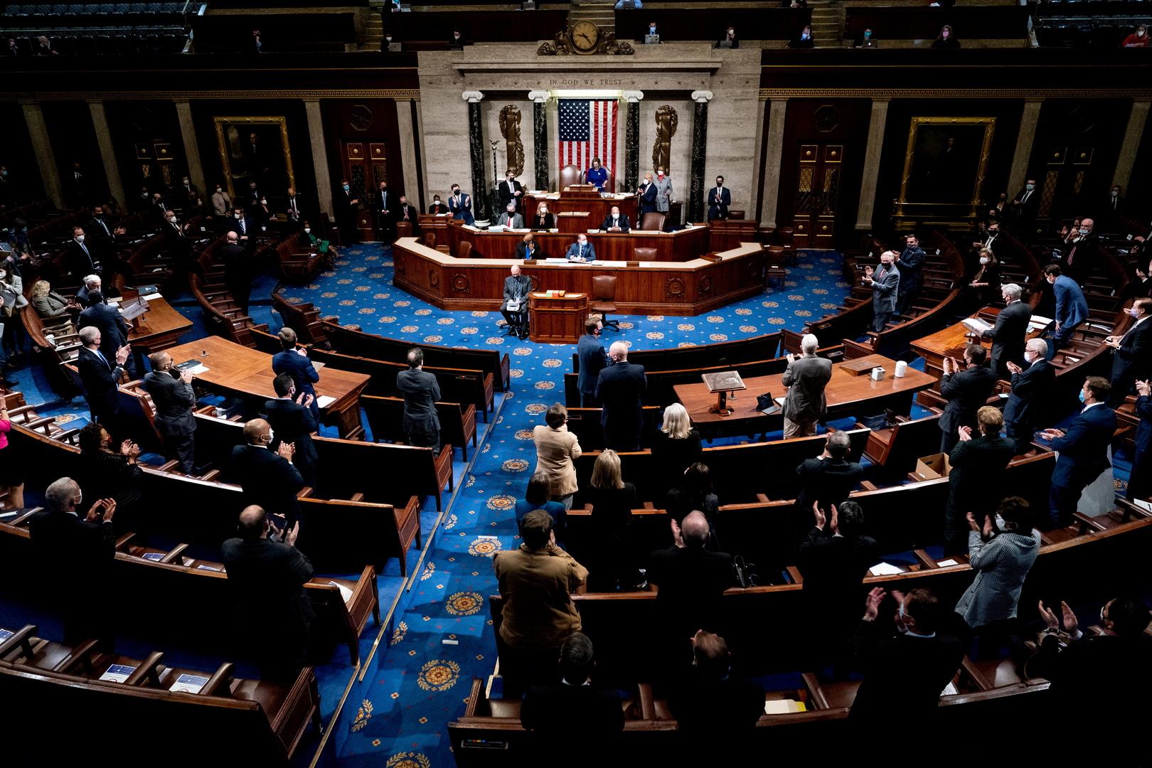 مجلس النواب الأمريكي يصوت على قرار يدعو بينس لتفعيل المادة 25 لعزل ترامب